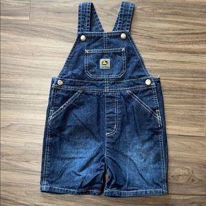 John Deere dark blue jean  overall bibs size 3T